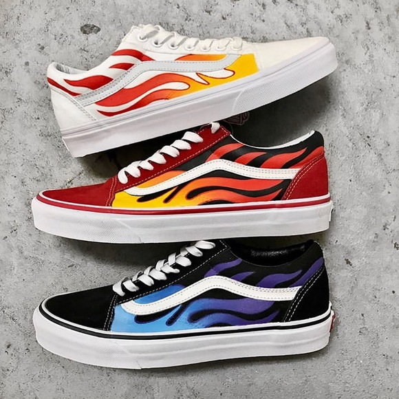 flame vans shoes